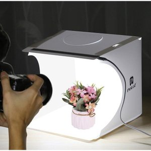 小型 撮影ボックス 折りたたみ式 ミニ スタジオ キット LEDライト付き