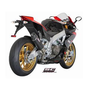 バイク マフラー SCプロジェク アプリリア RSV4  FACTORY / R / APRCマット・カーボン オーバルサイレンサー スリップオン|vio0009