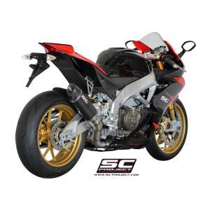 バイク マフラー SCプロジェク アプリリア RSV4  FACTORY / R / APRC カーボン オーバルサイレンサー スリップオン レースタイプ|vio0009