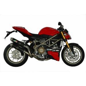 バイク マフラー QDエキゾースト ドカティ ストリートファイター マグナム ツイン・カーボン スリップオンシステム|vio0009