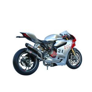 バイク マフラー QDエキゾースト ドカティ パニガーレ 1199 / 1299 マグナム ツイン・カーボン 2-1-2 フルシステム|vio0009