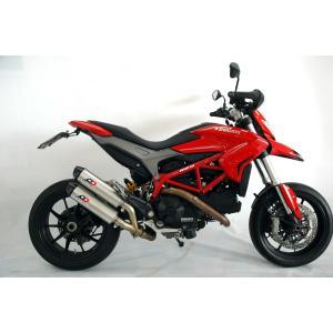 バイク マフラー QDエキゾースト マグナム ツイン・チタン スリップオンシステム ドカティ ハイパーモタード 821|vio0009
