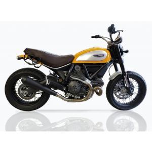 バイク マフラー QDエキゾースト ドカティ スクランブラー マックスコーン メガホン スリップオンシステム ブラック仕様|vio0009