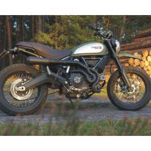 バイク マフラー QDエキゾースト マックスコーン メガホン ハイマウント フルエキゾースト ブラック仕様 ドカティ スクランブラー|vio0009