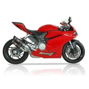 バイク マフラー QDエキゾースト マグナム ツイン・カーボン スリップオンシステム ドカティ パニガーレ 959|vio0009
