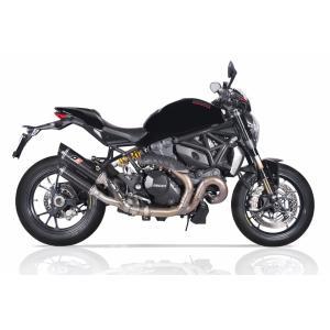 バイク マフラー QDエキゾースト ドカティ モンスター1200R / S ニューマグナム ツイン・カーボン スリップオンシステム vio0009