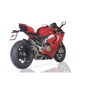 バイク マフラー QDエキゾースト ガンショット チタン ツイン スリップオンシステム ドカティ パニガーレ V4|vio0009