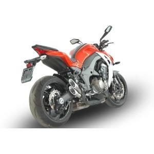 バイク マフラー QDエキゾースト カワサキ Z1000 14- パワー ガンスリップオン システム シルバー|vio0009