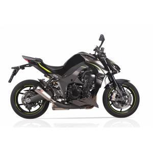 バイク マフラー QDエキゾースト カワサキ Z1000 14- トライコーン ツインスリップオン システム|vio0009