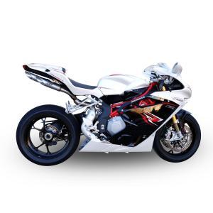バイク マフラー QDエキゾースト MVアグスタ F4 パワーガン スリップオン システム|vio0009