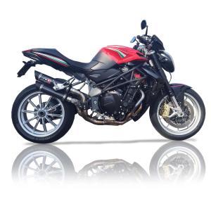 バイク マフラー QDエキゾースト MVアグスタ ブルターレ 910 / 1090  スリップオン システム カーボン|vio0009