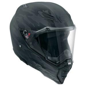 バイク オフロードヘルメット フルフェイス AGV AX-8 ネイキッド Fury マットカーボン|vio0009