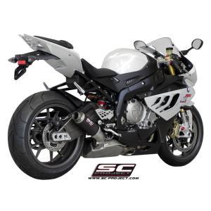 バイク マフラー SCプロジェク BMW S1000RR -14 GP-M2カーボン ラウンド・サイレンサー スリップオン・システム|vio0009