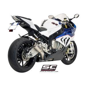 バイク マフラー SCプロジェク BMW S1000RR 15- GP70-R・チタンサイレンサー スリップオン・システム|vio0009