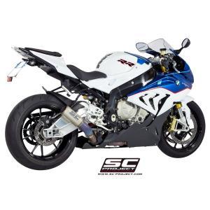 バイク マフラー SCプロジェク BMW S1000RR 15- CRT サイレンサー チタンリンクパイプ スリップオン・システム|vio0009
