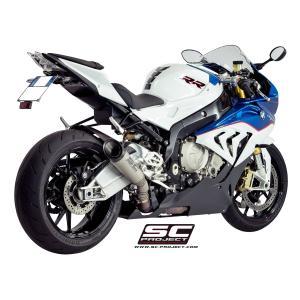 バイク マフラー SCプロジェクト BMW S1000RR 15- S1・チタンサイレンサー スリップオン・システム|vio0009