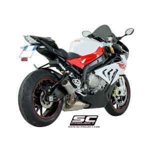 バイク マフラー SCプロジェク BMW S1000RR '17 CRT サイレンサー フルチタンリンクパイプ スリップオン・システム|vio0009