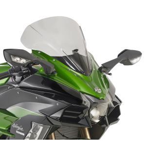 バイク スクリーン カワサキ H2-SX GIVI社製 スモークスクリーン|vio0009