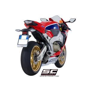 バイク マフラー SCプロジェクト ホンダ CBR1000RR / SP 2017 CRT チタンサイレンサー スリップオン ローマウント メッシュ付き|vio0009