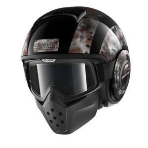 バイク ヘルメット フルフェイス シャーク Drak ドラク ドッグタグ ブラック/メタル|vio0009