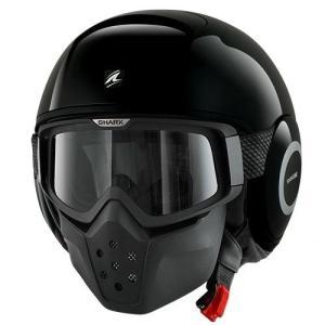 バイク ヘルメット ジェット シャーク ダラク ブラック|vio0009