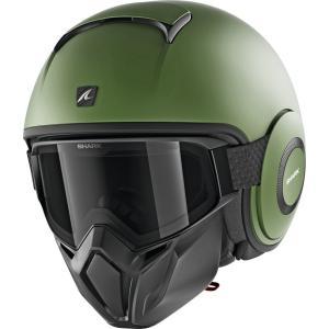 バイク ヘルメット ジェット シャーク ストリート ダラク マットグリーン(艶消し)|vio0009