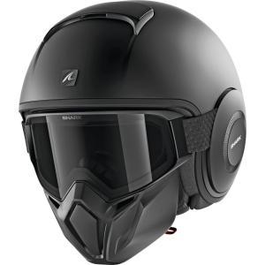 バイク ヘルメット ジェット シャーク ストリート ダラク マットブラック(艶消し)|vio0009