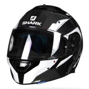 バイク ヘルメット フルフェイス シャーク スパルタン バイオニック  カーボン /ブラック /ホワイト|vio0009