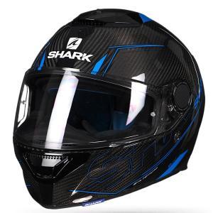 バイク ヘルメット フルフェイス シャーク スパルタン カーボン シリシウム /ブルー|vio0009