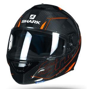 [送料バイク ヘルメット フルフェイス シャーク スパルタン  カーボン シリシウム /オレンジ|vio0009