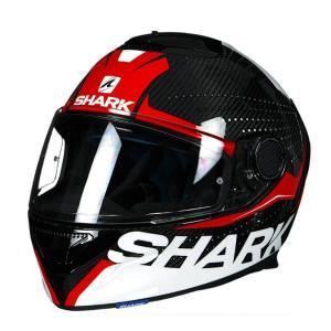 バイク ヘルメット フルフェイス シャーク スパルタン カーボン クリフ /レッド/ホワイト|vio0009
