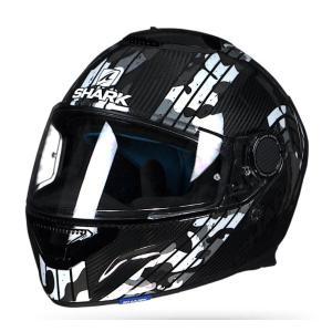 バイク ヘルメット フルフェイス シャーク スパルタン カーボン メツマイアー /シルバー /グレー |vio0009