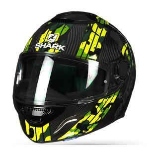 バイク ヘルメット フルフェイス シャーク スパルタン カーボン メツマイアー /イエロー /グリーン|vio0009