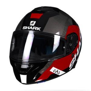 バイク ヘルメット フルフェイス シャーク スパルタン アピックス /ブラック /レッド /グレー|vio0009
