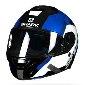 バイク ヘルメット フルフェイス シャーク スパルタン アピックス /ブラック /ホワイト /ブルー|vio0009