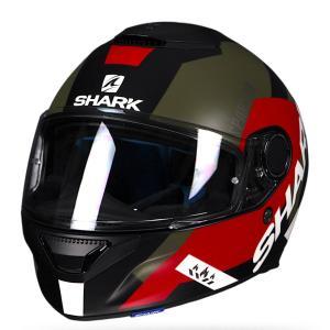 バイク ヘルメット フルフェイス シャーク スパルタン アピックス /ブラック /レッド /グリーン (つや消し)|vio0009