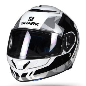バイク ヘルメット フルフェイス シャーク スパルタン ドローズ /ホワイト /ブラック /シルバー|vio0009