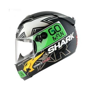 バイク ヘルメット フルフェイス シャーク レースR-プロ カーボン スコット・レディング レプリカ|vio0009