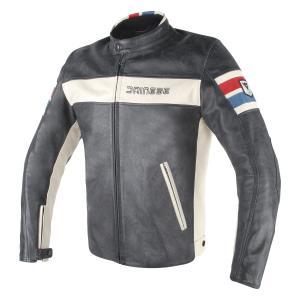 バイク レザージャケット ダイネーゼ HF-D1 ホワイトストライプ|vio0009