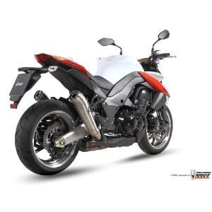 Mivv ギーブリ Z1000/Ninja1000 2010-2013 ステンメガホン・ ツイン スリップオン|vio0009