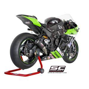 バイク マフラー SCプロジェクト カワサキ ZX10-R 11-15 CR-T カーボン サイレンサー スリップオン・システム|vio0009