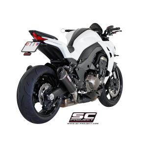 バイク マフラー SCプロジェク カワサキ Z1000 2014- コニカル・カーボン スリップオン|vio0009