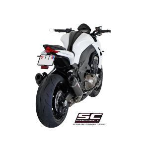 バイク マフラー SCプロジェク カワサキ Z1000 2014- コニカル・カーボン スリップオン|vio0009|04