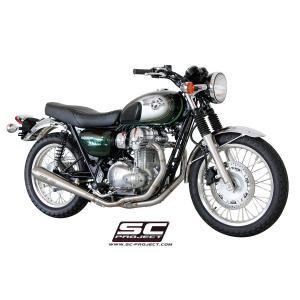 バイク マフラー SCプロジェクト カワサキ W800 コニカルサイレンサー 2イン1 フルエキゾースト|vio0009