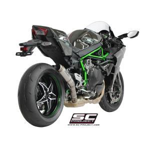 バイク マフラー SCプロジェクト カワサキ NINJA H2 GP 70-R サイレンサー スリップオン・システム|vio0009