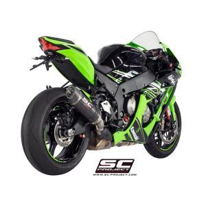 バイク マフラー SCプロジェクト カワサキ ZX10-R 2016 オーバルカーボン サイレンサー スリップオン・システム|vio0009