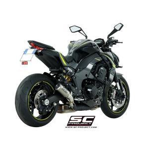 バイク マフラー SCプロジェクト カワサキ Z1000 2017- CRTツイン スリップオン vio0009