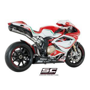 バイク マフラー SCプロジェクト MVアグスタ  S1スリップオンサイレンサー & フルチタンリンクパイプ F4 '10-18|vio0009