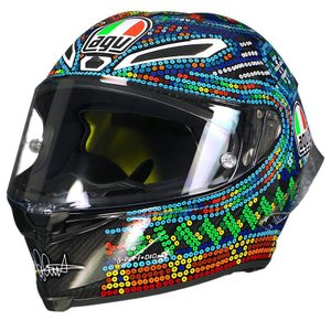 バイク ヘルメット AGV ピスタ GP-R ウインターテスト 2018 ロッシ ビーズアート レプリカ|vio0009
