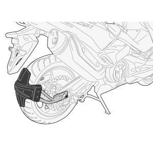 バイク リアフェンダー GIVI ヤマハ T-Max530 2017- スプラッシュガード用 取り付けキット|vio0009